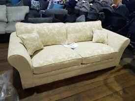Brand New Mayfair Chenille Fabric Sofa - Cream