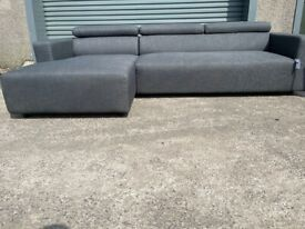 Grey next corner sofa, couch, suite, furniture 🚛🚛🚚