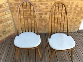 2 Ercol Windsor Quaker Dining chairs
