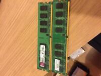 Ram DDR2 800mhz 2x2gb