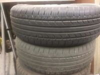 VW GOLF ALLOY WHEELS WITH NEARLY NEW TYRES