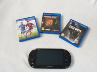 Excellent condition PS Vita Slim - Wi-Fi, comes with 3 popular games and original charger.