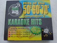 KARAOKE CDG DISCS-50s-60s-70s