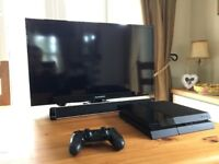 PS4 500gb, Full HD 1080p TV and Soundbar bundle (with game)