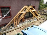 Roof trusses (13) suitable for double garage (used)