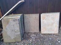 11 Large concrete paving slabs