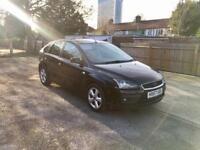 2007 Ford Focus 1.6, Black, 5 Doors, Alloys, New MOT - £1395