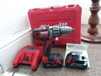 Milwaukee cordless drill 18 volts