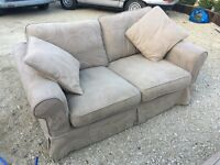 Pair of very comfy sofas in excellent condition with washable covers (PRICE IS FOR 2)