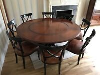 FURTHER PRICE REDUCTION Large Round Dining Table And 8 Chairs