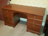 Desk and cupboard