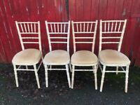 Set of 4 x Vintage Retro Chairs Dining Spindle Back Shabby Chic or Upcycle etc