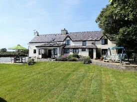 Anglesey, lovely, historic 17thC family home; 4 bedroom; 1acre; a mile from Rhosneigr; great views