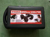 York Fitness 20kg Dumbbell Set