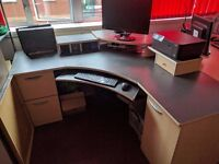 Large Corner Desk and Office Chair