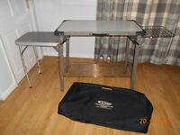 GELERT HEAVY DUTY CAMPING KITCHEN /SIDE TABLE /GRILL RACK