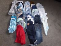 Bundle of baby boys clothing age 3-6 months