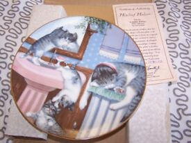 """Hamilton collectors plates """" country kitten"""" series boxed and with certificates"""