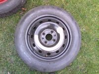 fiat punto space saver wheel , new tyre