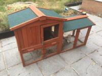 Rabbit hutch and cover