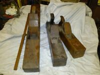 Set of 3 Used Wooden Block Planes