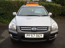 KIA SPORTAGE 2.0 XE 5 door finished in metallic SILVER