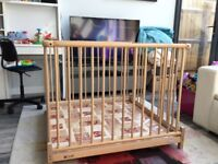 Geuther birch wood play pen - great condition