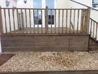 Wood decking boards used