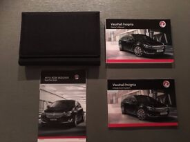 VAUXHALL INSIGNIA OWNERS MANUAL HANDBOOK WALLET SERVICE BOOK 2013-2016