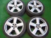 """AUDI A3, A4, A6, VW GOLF MK5, MK6, PASSAT RS6 STYLE 18"""" ALLOY WHEELS 5 x 112"""