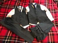 Boys next suits, 4-5, 6-7, black shoes size 12 (£4)