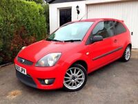 **1 PREV OWNER** FORD FIESTA ZETEC S 1.6 TDCI REC 3 DOOR MANUAL DIESEL ST LEATHER INTERIOR