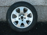 """Audi 15"""" alloy wheel spare wheel and perfect tyre Dunlop 195/65 R15 a3 good condition"""
