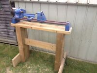 Record DML/24 Wood Lathe, tools and accessories + Bench Stand if wanted.