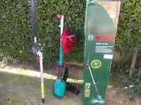 Bosch extendable hedge trimmer bocked