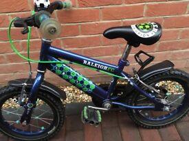 Boys 14inch Raleigh Striker Bike