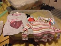 Baby girl clothes - up to 12 months - large assortment in box