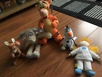 Lots of cuddly toys as new