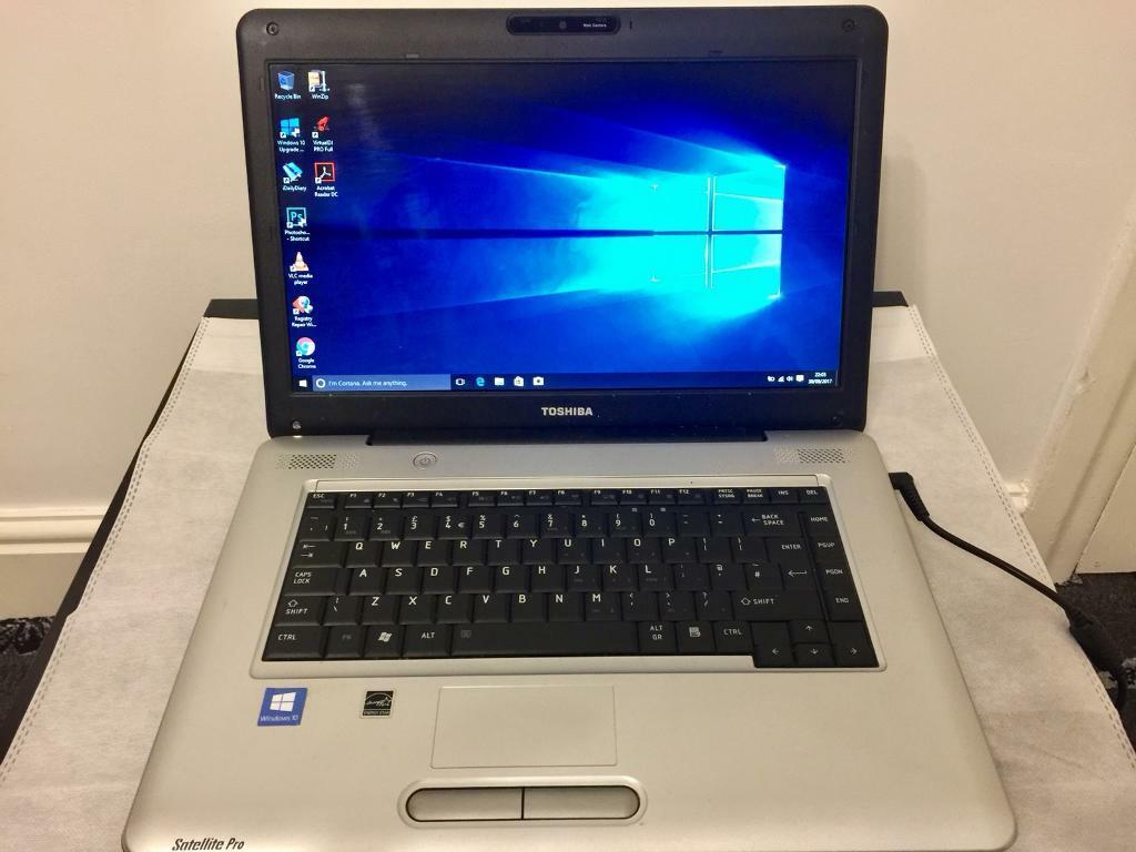 Toshiba satellite HD 4GB Ram Quick Laptop 160GB,Window10,Microsoft office,Ready to use