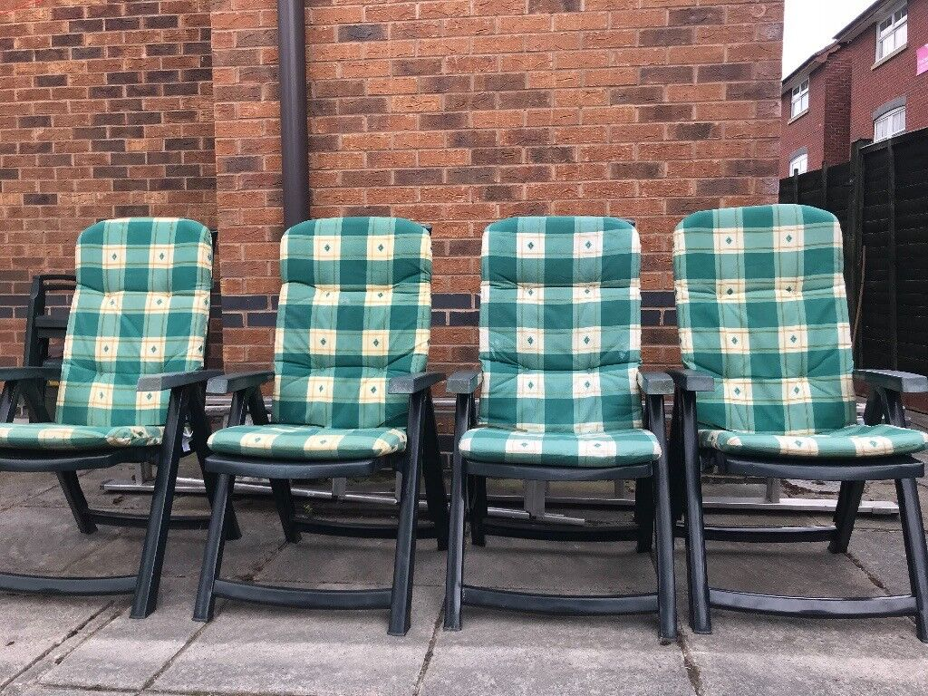 Outdoor Chairs With Cushions X4 In Newport Gumtree