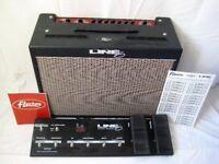 Line 6 Flextone 60 watt guitar amp and Floorboard