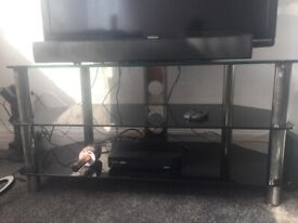 """Black Glass TV Stand - up to 46"""" TV"""