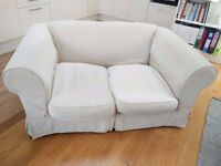 Cream two seater sofa (deep 2 seat) - URGENT MUST GO!