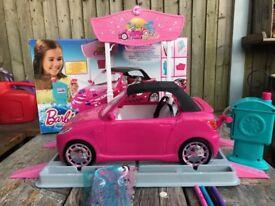 Barbie Car Design Studio car wash