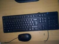 Dell USB Keyboard And Dell Mouse