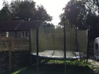 free trampoline 12ft signs of ware but fully working order