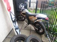 ajs jsm 125cc super moto motorbike
