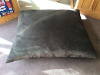 Large Grey suede effect floor cushion
