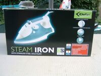 New still in Box Delta Steam Iron with Stainless Steel Sole Plate.