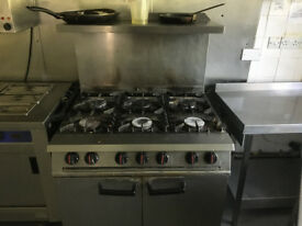 Job lot of commercial kitchen equipment from a care home.
